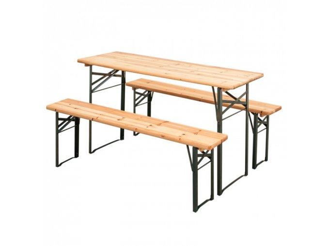Zahradní pivní set - 2x lavice, 1x stůl