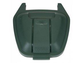 Víko pro mobilní odpadkový koš 100 l, zelené