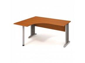 Rohový kancelářský psací stůl SELECT, 1600 x 1200 mm, pravý, třešeň