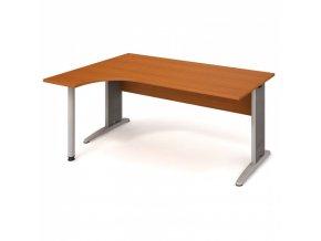 Rohový ergonomický kancelářský psací stůl SELECT, 1600 x 1200 mm, pravý, třešeň