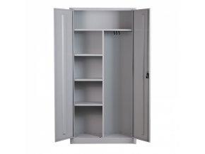 Víceúčelová plechová skříň, 1950x950x400 mm, šedá