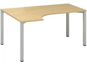 Rohový kancelářský psací stůl CLASSIC B, levý, buk