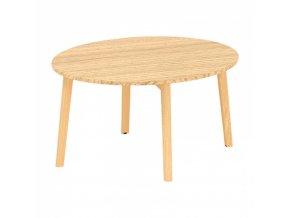 Konferenční stůl ROOT, výška 477 mm, průměr 900 mm, dub