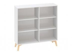 Kancelářská skříň bez dveří ROOT 1200 x 450 x 1215 mm, bílá