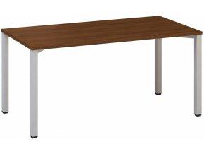 Kancelářský psací stůl CLASSIC B, 1600 x 800 mm, ořech