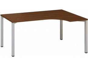 Rohový kancelářský psací stůl CLASSIC B, pravý, ořech