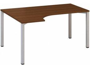 Rohový kancelářský psací stůl CLASSIC B, levý, ořech