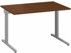 Kancelářský psací stůl CLASSIC C, 1200 x 800 mm, ořech