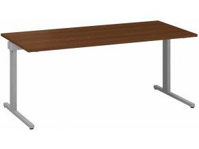 Kancelářský psací stůl CLASSIC C, 1800 x 800 mm, ořech
