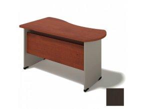 Kancelářský stůl BERN - dřevěná podnož, pravý, wenge, délka 1600 mm
