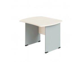 Kancelářský psací stůl BERN, dřevěná podnož, 1200 x 850 mm, bříza