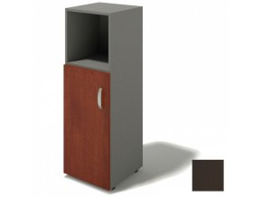 Kancelářská skříňka BERN - dveře levé, 399 x 422 x 1195 mm, wenge