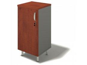 Kancelářská skříň BERN PLUS, dveře levé, 450 x 430 x 930 mm, wenge