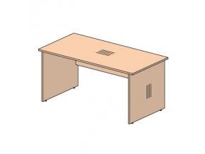 Kancelářský psací stůl EXPRESS, délka 1400 mm, tmavý ořech