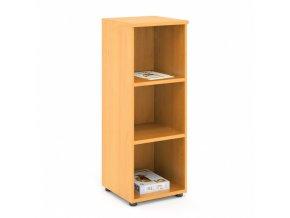Vysoká kancelářská policová skříň EXPRESS, 372 x 372 x 1196 mm, hruška