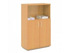 Kombinovaná kancelářská skříň EXPRESS, 740 x 372 x 1196 mm, bříza