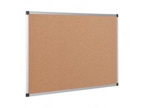 Korková nástěnka, 1200x900 mm, hliníkový rám