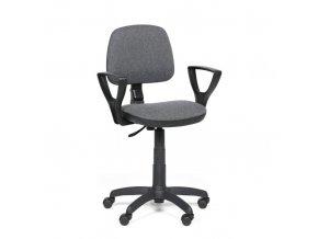 Kancelářská židle MILANO s područkami, šedá