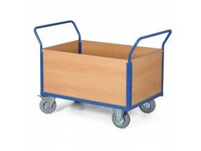 Plošinový vozík - 4 výplně, plošina 1000x700 mm, 400 kg