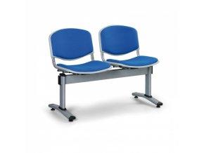 Čalouněné lavice do čekáren LIVORNO, 2-sedák, modrá