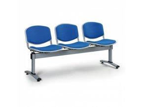 Čalouněné lavice do čekáren LIVORNO, 3-sedák, modrá