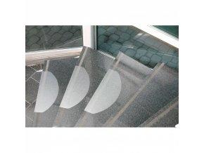 Nášlapy na schody - polykarbonát, 654x236 mm, 15 ks