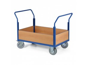 Plošinový vozík - 4 nízké výplně, 1000x700 mm, 400 kg