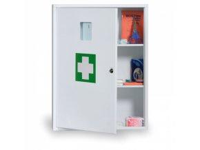 Kovová nástěnná lékárnička, 60x45x16 cm, náplň DIN 13169