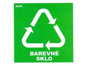 Samolepky - tříděný odpad, barevné sklo - zelená - CZ