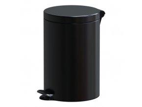 Nášlapný koš, 12 L, lakovaný černý