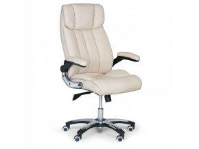 Kožené kancelářské křeslo COMBI XL, krémová