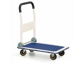 Plošinový vozík se sklopným madlem, 300 kg