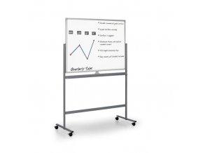 Mobilní oboustranná magnetická tabule, 180x120 cm