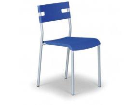 Plastová jídelní židle LINDY, modrá