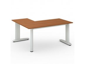 Rohový kancelářský psací stůl FLEXIBLE L 1600 x 1400 mm, třešeň