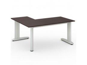 Rohový kancelářský psací stůl FLEXIBLE L 1600 x 1400 mm, wenge