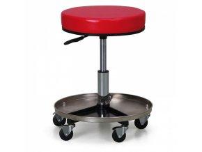 Dílenská čalouněná stolička na kolečkách