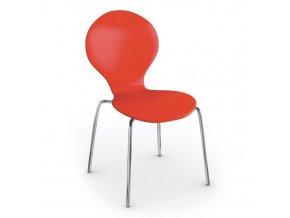 Dřevěná jídelní židle CANDY, červená
