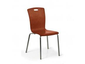 Dřevěná jídelní židle RITA, ořech, balení 4 ks