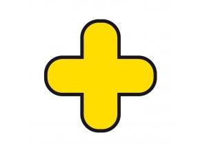 Samolepicí podlahové značení z PVC - Tvar kříž, 300x300 mm