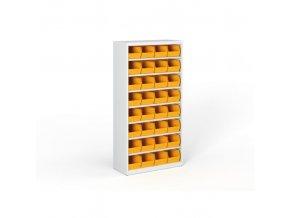 Regál s plastovými boxy - 1800 x 920 x 400 mm, 32x box C