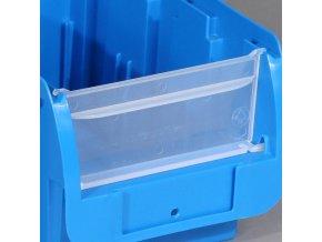 Čelní průhledná stěna pro boxy COMPACT, šířka 316 mm