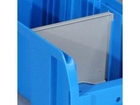 Dělič pro plastové boxy COMPACT, příčný, šířka 114 mm
