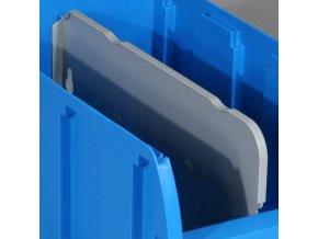 Dělič pro plastové boxy COMPACT, podélný, délka 281 mm
