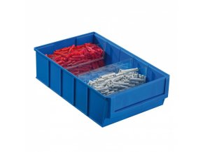 Plastový regálový box ShelfBox, 183 x 300 x 81 mm, modrý