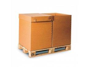Skládací víko pro kartonový Eurobox 800x600 mm, 5 ks