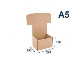 Standardizované krabice na tiskoviny A5, 220x150x150 mm, 20 ks