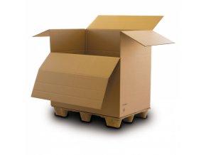 Kartonový box s výklopným čelem, 1200x800x1100 mm, 5-vrstvá lepenka, 10 ks