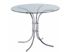Kulatý jídelní stůl RAVENA, průměr 900 mm, skleněná deska