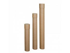 Kartonový zásilkový tubus, průměr 80 mm x 500 mm, 30 ks
